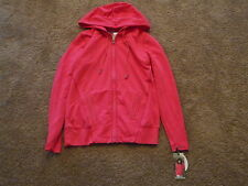 New Without Tags Green Tea Womens Zippered Front Hoodie-Size-Med.-Color-Hot Pink