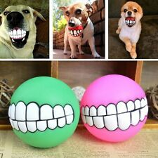 Pet Dog Ball Teeth Funny Vinyl Toy Chew Squeaker Squeaky Sound Dog Play Bite Toy