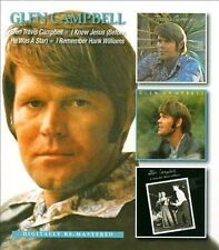 Glen Travis Campbell/I Knew Jesus (Before He Was a Star)/I Remember Hank Williams by Glen Campbell (CD, Mar-2013, 2 Discs, Beat Goes On)