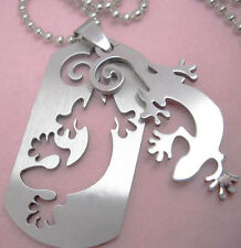 B1115 gecko Stainless Steel pendant & Stainless Steel necklace charm men chain