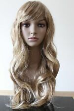 Fashion Womens Dark Blonde Long Curly Natural Straight Wavy Full Head Hair Wig g