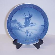 ROYAL COPENHAGEN DENMARK BLUE CHRISTMAS PLATE WINDMILL 1963