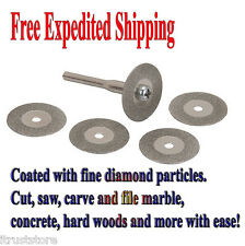 5x Diamond Rotary Cutting Discs Filing Carving Wheel Blade Accessory fits Dremel