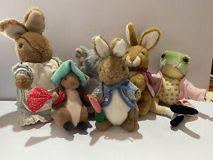 Vintage 2002 Peter Rabbit Jeremy Mrs Rabbit Benjamin Lady Mouse Cotton Tail