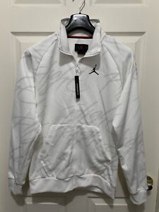 Nike Air Jordan Jumpman Tricot Flight Jacket White Men's Size S Small AR4460-100