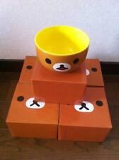 NEW JAPAN Lawson Rilakkuma San-X Relax bear Bowl Donburi Chawan Soup Dish Set