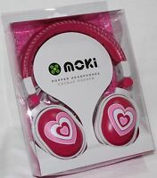 Moki Love Hearts POPPER HEADPHONES - NEW earphones ear/head phones music/mp3