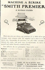 SMITH PREMIER MACHINE A ECRIRE AMERICAN TYPE WRITER PUBLICITE ADVERTISING 1910