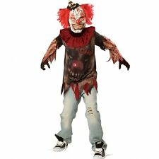 Entsetzlicher Clown Gr. 140 146 Karneval Kostüm Kinder  Fasching Jungen neu