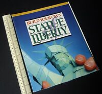 1984 Vintage Build Your Own Statue of Liberty Cut-Out Model Kit in Book/Folder