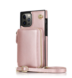 Crossbody Bag Zipper Wallet Leather Case Cover For iPhone 7-13+ Samsung S9-S21FE