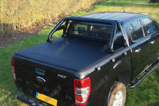 Ford Ranger T6 Schwarz Rolle Stange und Weich Aufrollbar Ladenfächendeckel 2012+