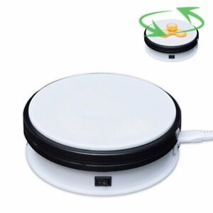 15cm 20KG 3D Photo 360° Rotating Display Stand Base Rotary Turntable White 220V