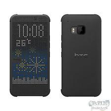 HTC One M9 Dot Flip Case Tasche Cover Hülle Handytasch Dot View Cover - Grau