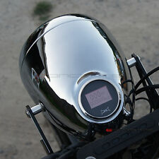 "Chrome 5.75"" Headlight + Digital GPS Speedo - Harley Chopper Bobber Custom Proje"
