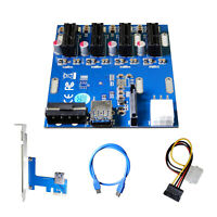 AAAwave PCI-E 1x to 4 PCI-E Multiplier HUB Adapter AAAPCIE4HUB 651950993326
