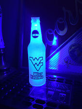 NCAA West Virginia Mountaineers Football 12oz Beer Bottle Light LED Bar Man Cave