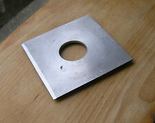 "cast metal lensboard  4"" x 4"" 34mm hole copal 0 size irregular machined"