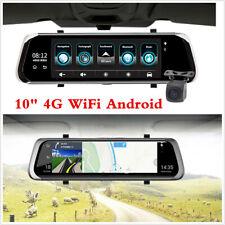 10 pulgadas 4G Car Espejo Retrovisor Cámara Dvr Lente Dual Android 5.1 Dash Cámara Grabadora