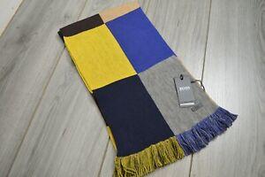 Men's Hugo Boss Bico Pure Wool Multicoloured Scarf RRP £69