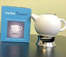 NAMBE GOURMET Original BULBO Teapot w/ Infuser + Warming Base 32 oz LOU HENRY