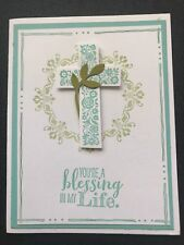 "Stampin Up Card Kit Set Of 4 ""You're A Blessing In My Life"" Coastal Cross"