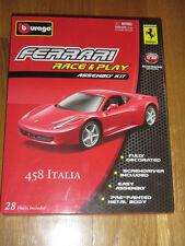 die cast metal model kit scale 1/32 Bburago FERRARI 458 ITALIA race & play asse