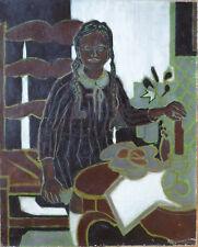 Bernard MANDEVILLE (1921-2000) HsT Années 50' Nle Ecole de Paris Jeune Peinture