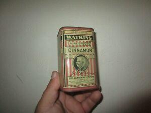Vintage JR Watkins Company Pure Ground Cinnamon Spice Tin 1/2 Pound