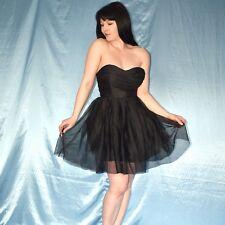 Ballerina PARTYKLEID* S 36  schwarzes Tüllkleid* Gothic Minikleid* Cocktailkleid