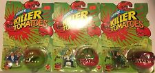 Vintage 90s Mattel ATTACK of the KILLER TOMATOES Madballs Carded Lot of 3 Figure
