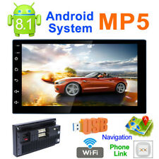 "Android 8.1 7"" 2 DIN Car GPS Bluetooth Stereo Wifi Phonelink Radio FM MP5 Player"