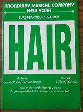 Programme  Comédie Musicale HAIR European tour 1994-95