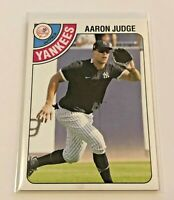 2020 Topps Throwback Thursday Baseball 1978 Hockey - Aaron Judge - Yankees