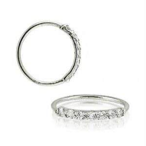 925 Sterling Silver nose cartilage hoop Helix Daith Rook Tragus Conch Rings ear