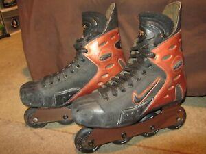 Vintage NIKE ZOOM AIR Mens Size 11 Inline Rollerblades Hockey Roller Skates RARE