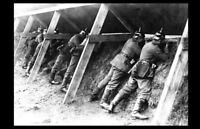 German Soldiers Trenches PHOTO Belgium World War I, Germany, Pickelhaube Helmets