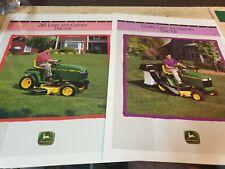 1992 JOHN DEERE LAWN & GARDEN Tractors Original Sales Leaflets 245 & GT242