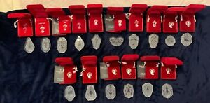 Waterford Crystal 12 Days of Christmas plus 4 Annual Ornaments Lot 1980 - 1995