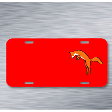 Fox Animal Leap Mammal Wild On License Plate Car Front Add Names