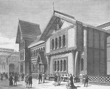 FRANCE. Paris Expo. Norwegian Pavilion, Champ de Mars, antique print, 1878