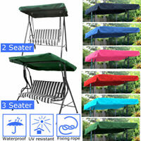 2/3 Seater Waterproof Swing Chair Cover Canopy Replacement Courtyard Outdoor