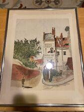 NC Artist Joan Bolton – Estate Find – Framed Original Jerusalem Inn – Watercolor