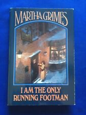 I AM THE ONLY RUNNING FOOTMAN - FIRST EDITION BY MARTHA GRIMES