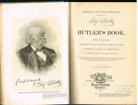 Autobiography & Personal Reminiscences of Major-General Butler 1892 Antique Book