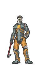 FiGPiN #041 Half-Life GORDON FREEMAN Enamel Pin