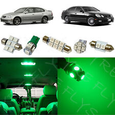 12x Green LED lights interior package kit 1998-2005 Lexus GS300 GS400 GS430 LG1G