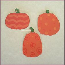 PATTERNED PUMPKIN METAL MAGNETS SET OF 3 EMBELLISH YOUR STORY FREE U.S. SHIPPING