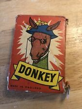 Vintage Donkey Playing Card Game 1950s Boxed