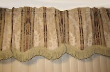 "228""Tuscan Scroll Stripe Jacquard Valance total width is 228 inches"